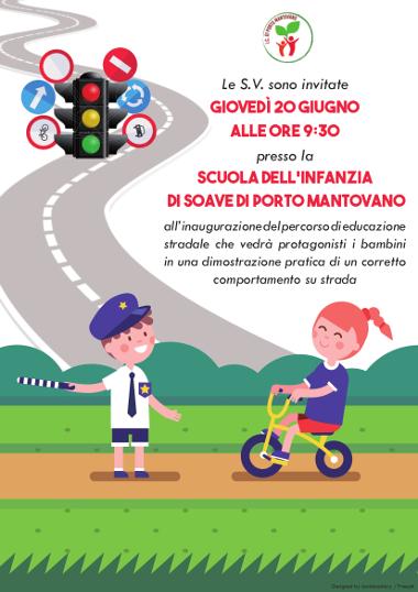 locandina inaugurazione percorso educazione stradale